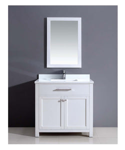 Dawn - Vanity Set: Counter Top (AAMT362135-01), Cabinet (AAMC362135-01) & Mirrior (AAM2230-00)