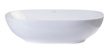 "23"" Oval Ceramic Above Mount Bathroom Basin Vessel Sink"