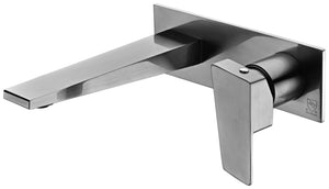 Brushed Nickel Wall Mounted Bathroom Faucet