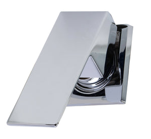 Polished Chrome Single Lever Wallmount Bathroom Faucet