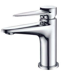 Polished Chrome Modern Single Hole Bathroom Faucet