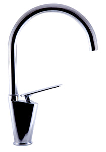 Polished Chrome Gooseneck Single Hole Bathroom Faucet