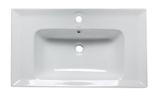 "White Ceramic 32""X19"" Rectangular Drop In Sink"