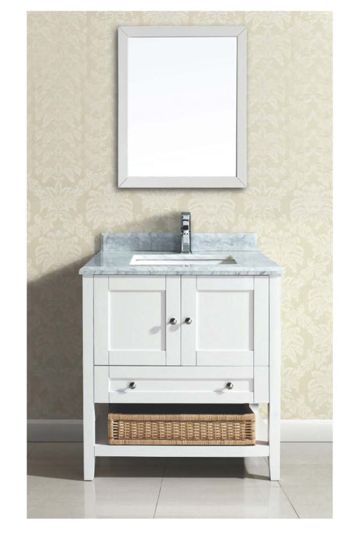 Dawn - Vanity Set; Counter Top (AACCT302134-01), Cabinet (AACCC302134-01) & Mirror (AAM2230-01), Beige White