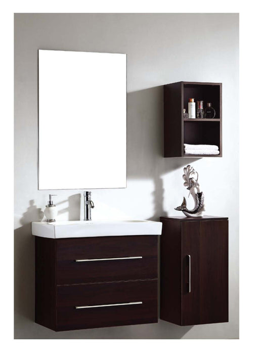 Dawn - Vanity Set: Sink Top (RET281703-05), Cabinet (REC261522-05), Side Cabinet without door (RESC131327-05), Side Cabinet (REMC110519-05) & Mirror (REM230135)