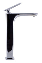 Polished Chrome Tall Single Hole Modern Bathroom Faucet