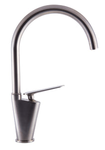 Brushed Nickel Gooseneck Single Hole Bathroom Faucet