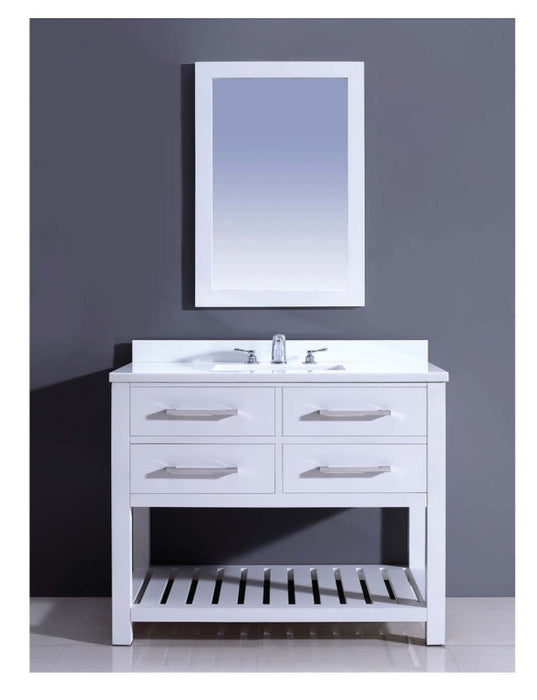 Dawn - Vanity Set: Counter Top (AAPT422235-01), Cabinet (AAPC422235-01) & Mirror (AAM2230-00)