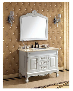 Dawn - Vanity Set: Counter Top (RTT432204-01), Cabinet (RTC422232-01), Mirror (RTM390137-01)