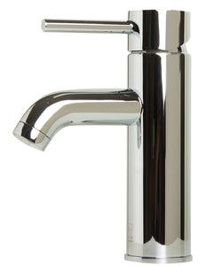 Polished Chrome Single Lever Bathroom Faucet