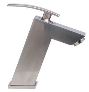 Brushed Nickel Single Lever Bathroom Faucet