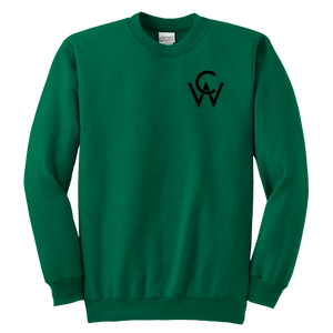 CW Youth Crewneck Sweatshirt Kelly Green