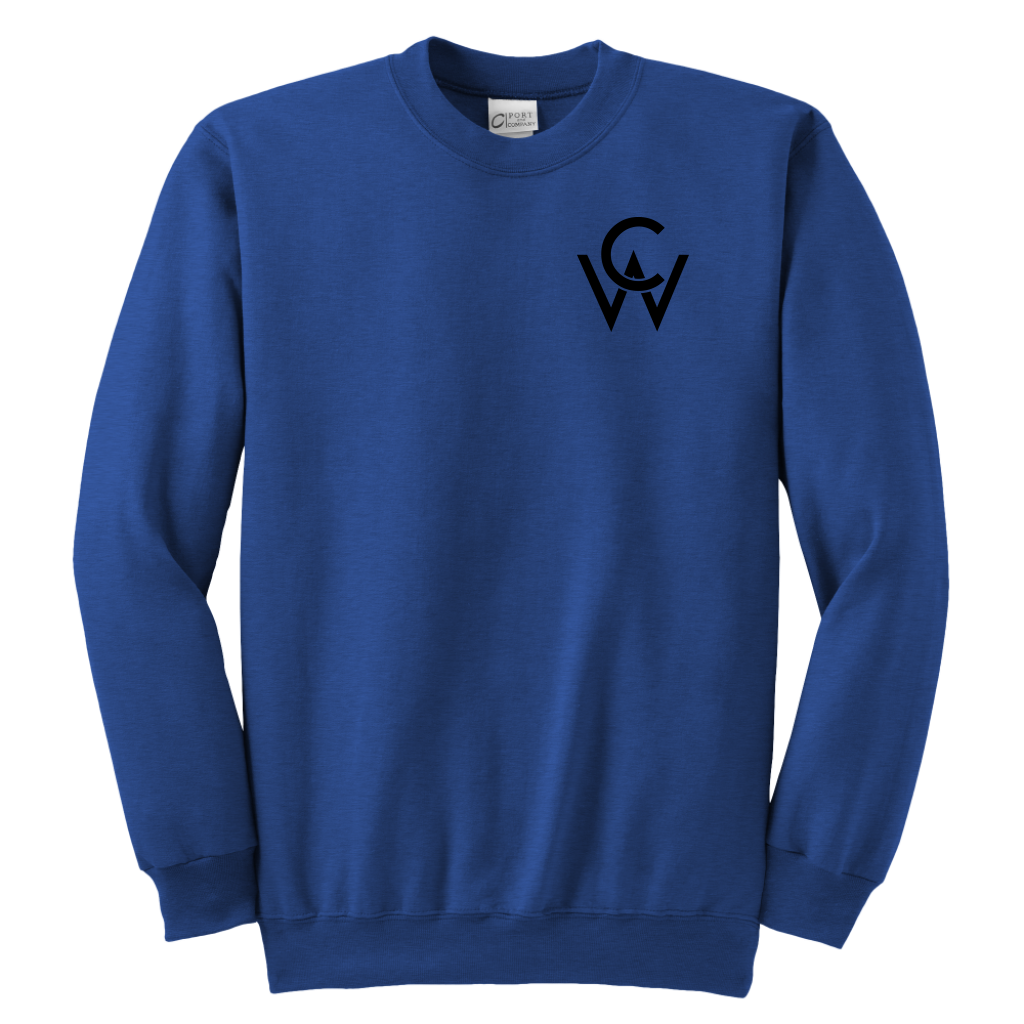 CW Youth Crewneck Sweatshirt Royal Blue