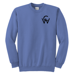 CW Youth Crewneck Sweatshirt Carolina Blue