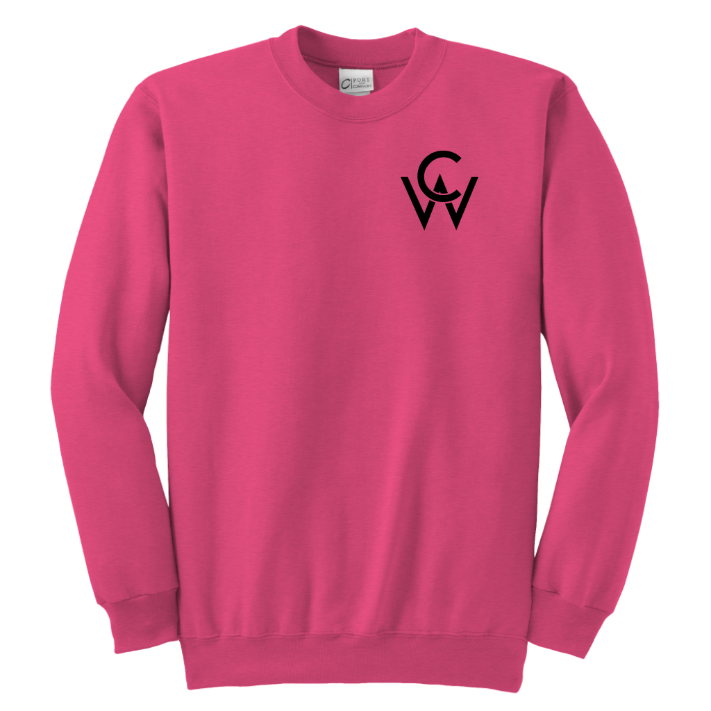 CW Youth Crewneck Sweatshirt Neon Pink