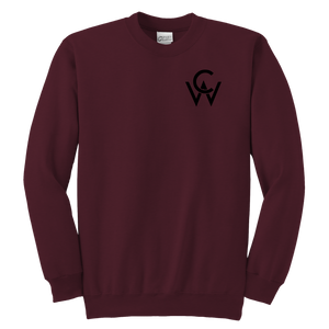 CW Youth Crewneck Sweatshirt Maroon