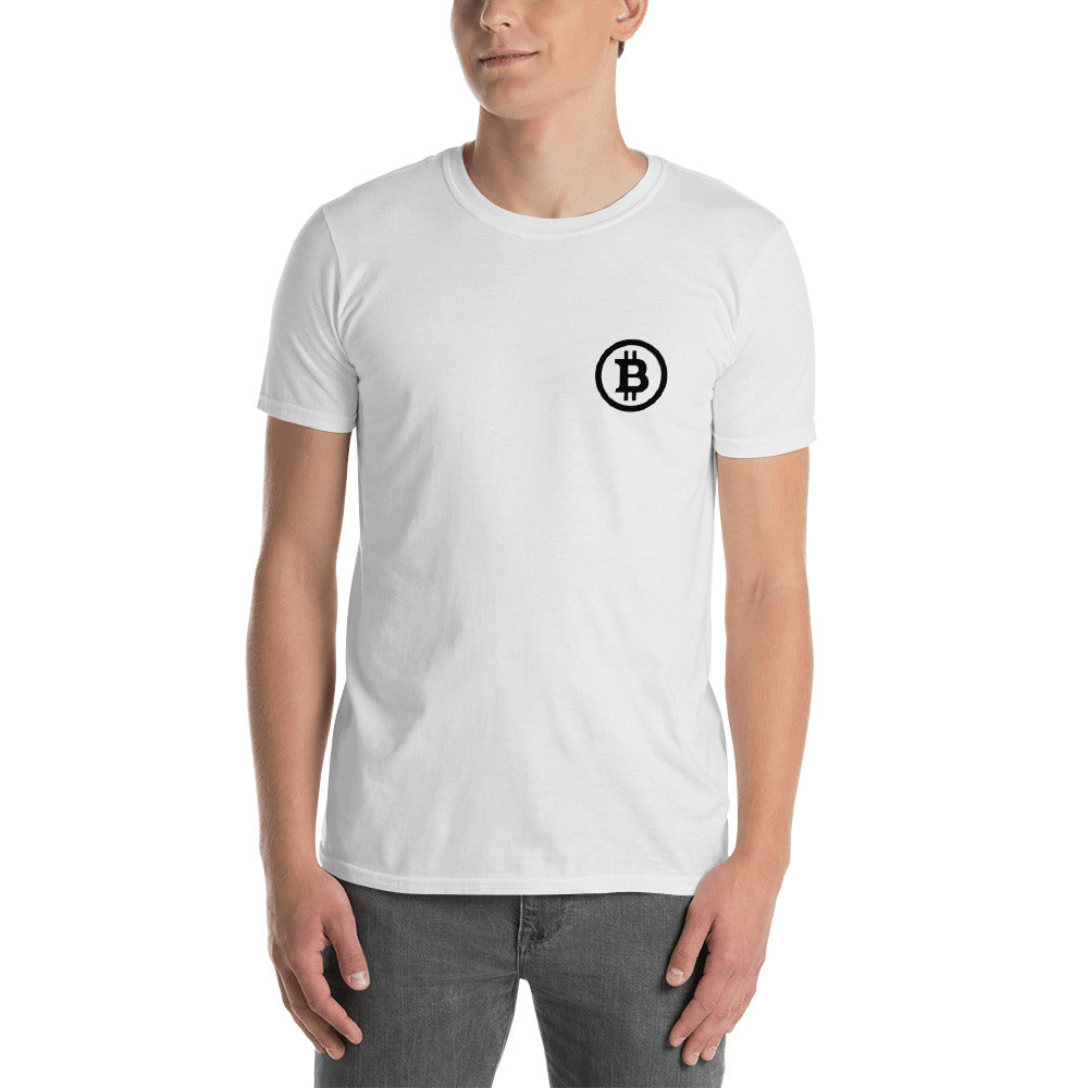 Bitcoin Short-Sleeve Unisex T-Shirt White