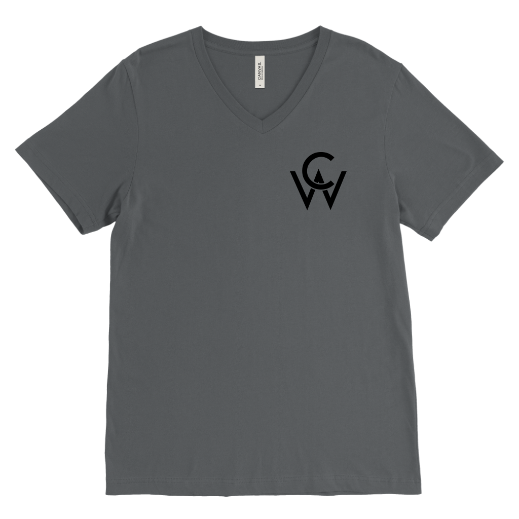 CW Mens V Neck Asphalt