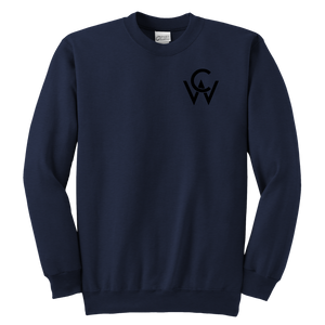 CW Youth Crewneck Sweatshirt Navy