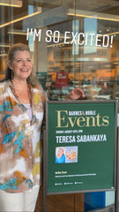 Teresa Sabankaya at Barnes & Noble in San Antonio, TX