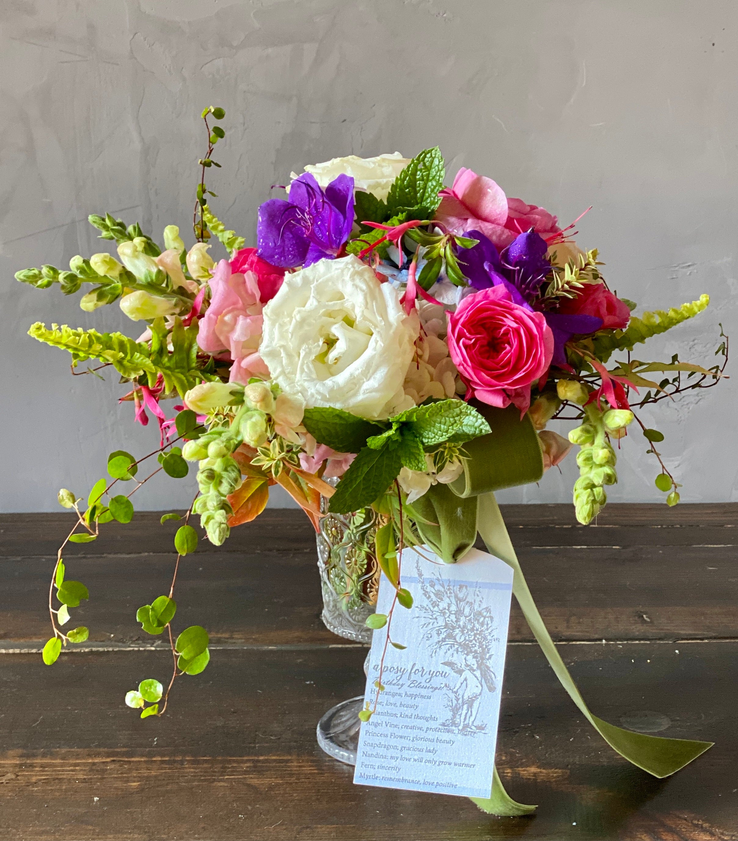 Birthday Blessings Posy Kit