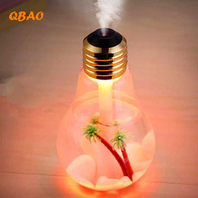 400ML Bulb Essential Oil Diffuser Ultrasonic LED USB Port Plant Tree 3 Colors For Option Aroma Diffuser Difusores Humidifier Usb