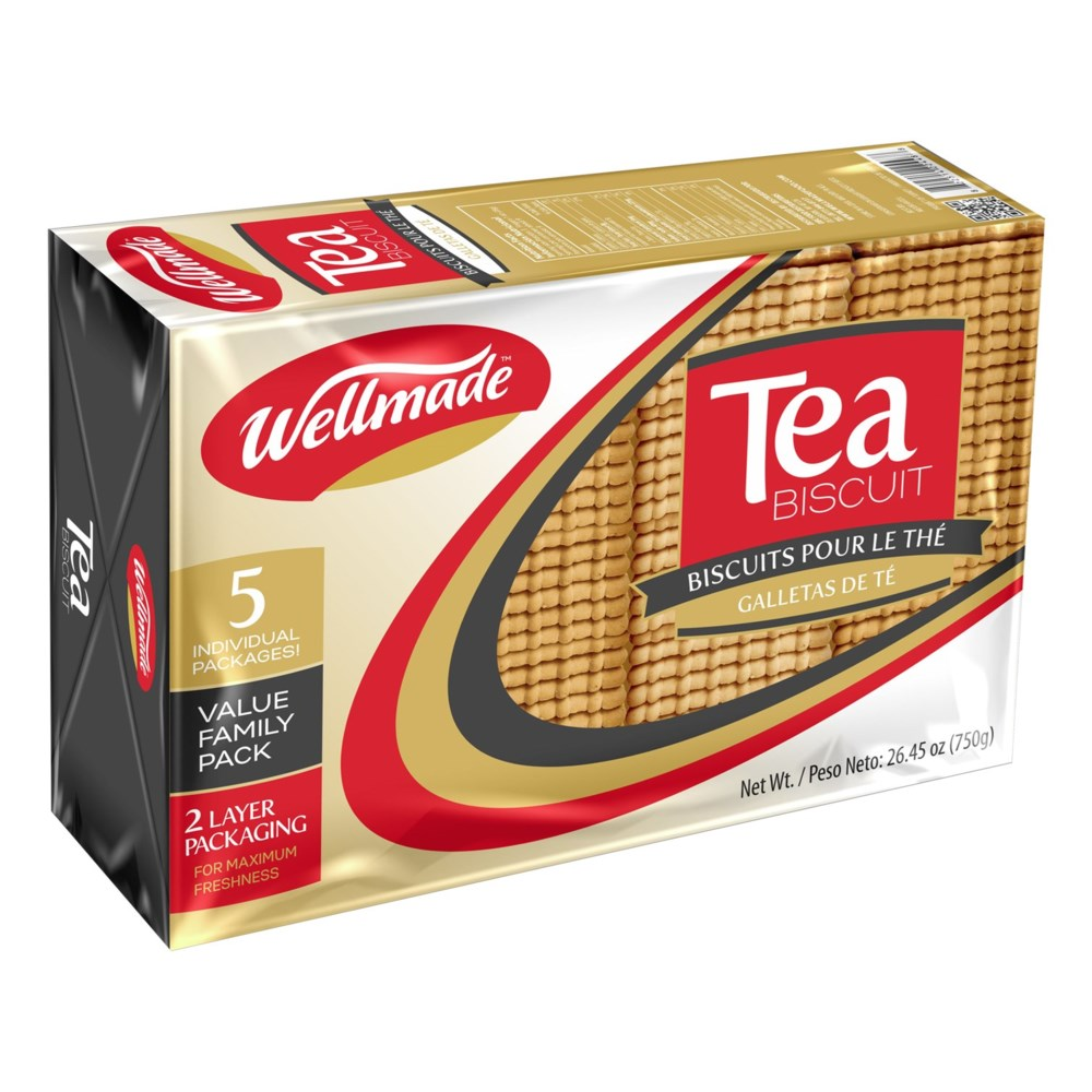 "بسكويت الشاي 800 غ | Tea Biscuit Family Pack ""WELLMADE"" 800g"