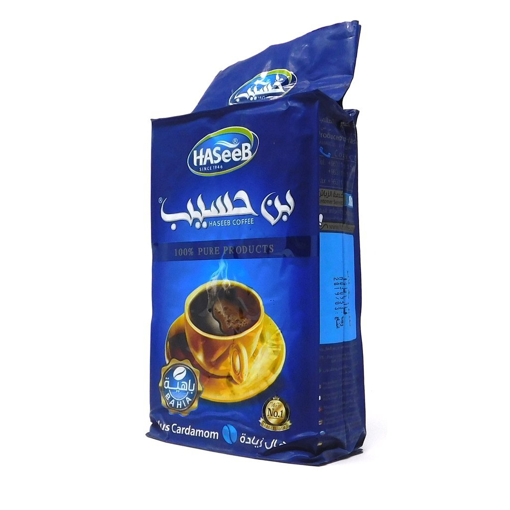 بن حسيب الأزرق 500غ | Haseeb blue ground turkish coffee 500g
