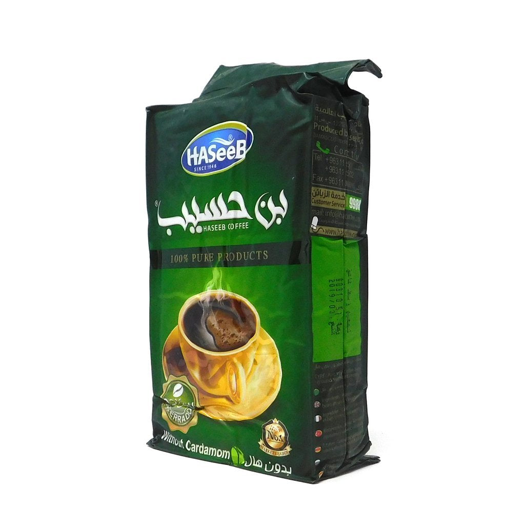 بن حسيب الأخضر 500غ | Haseeb green ground turkish coffee 500g