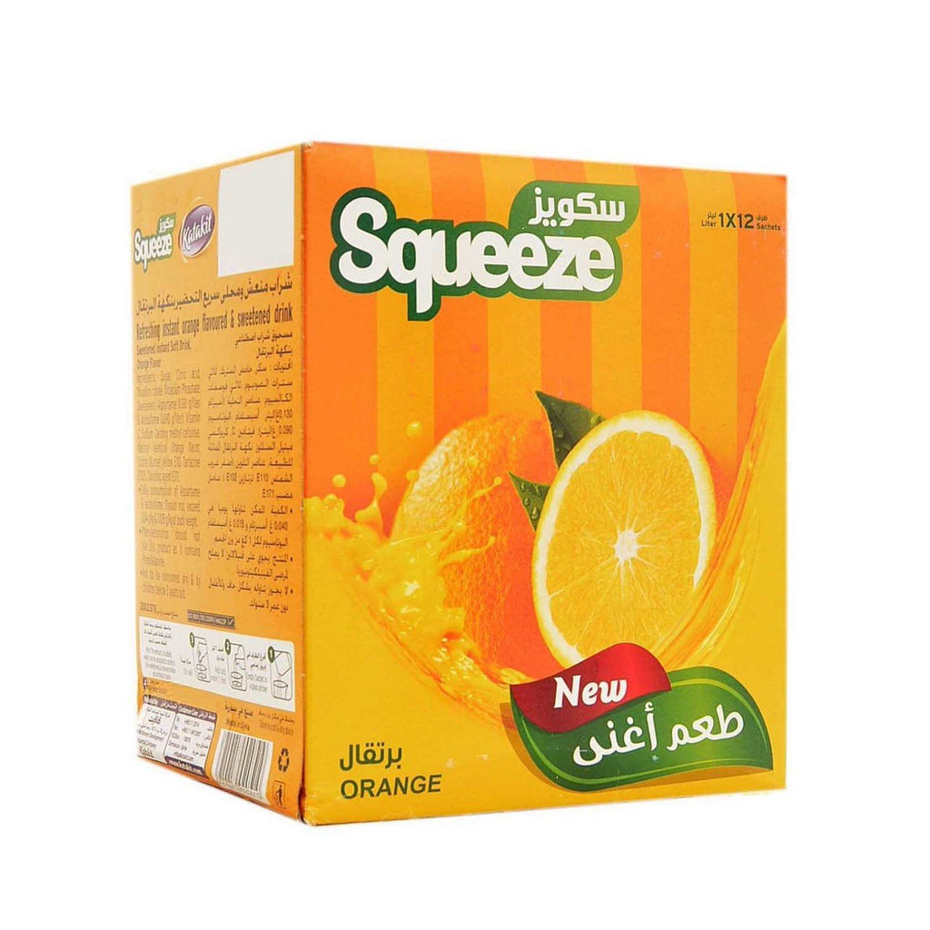 سكويز برتقال 12 ظرف | squeeze orange juice powder 12 bags