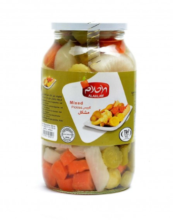 مخلل مشكل 900 غ زجاج شد 6 قطعة | mixed pickles 900g