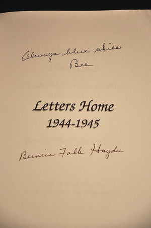 "Letters Home: 1944-1945 ""Bee"" Haydu WASP"