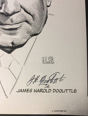 Jimmy Doolittle Black & White by Milton Caniff from National Aviation Hall of Fame