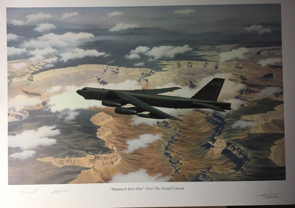 Shamrock Zero-One Over the Grand Canyon B-52