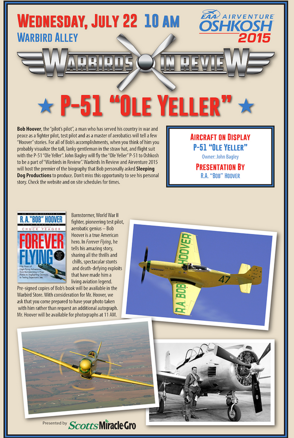 "Warbirds in Review 2015 P-51 ""Ole Yeller"""