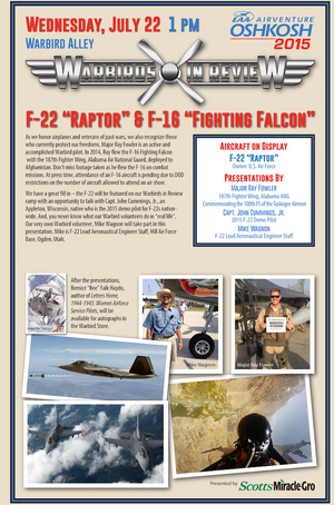 "Warbirds in Review 2015 F-22 ""Raptor"" & F-16 ""Fighting Falcon"""
