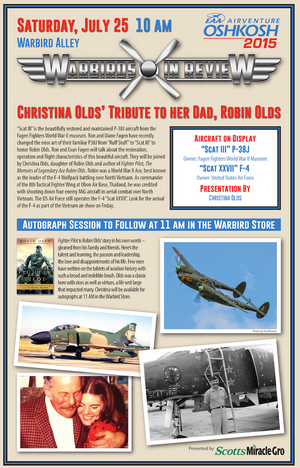 Warbirds in Review 2015 Christina Olds' tribute to her dad, Robin Olds