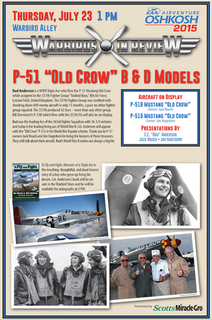 "Warbirds in Review 2015 P-51 ""Old Crow"" B & D Models"