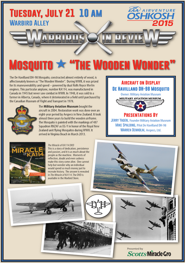 Warbirds in Review 2015 Mosquito the Wooden Wonder