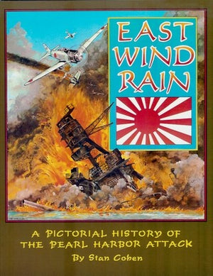 "East Wind Rain ""A Pictorial History of The Pearl Harbor Attack"" Signed by Harry Brown 2 Victories at Pearl Harbor"