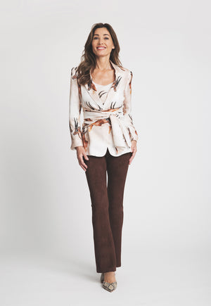 Belinda Camisole in Horn paired with matching jacket front view