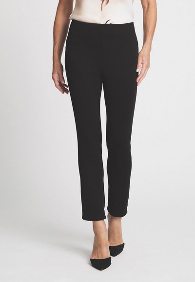 black stretch knit capri pant