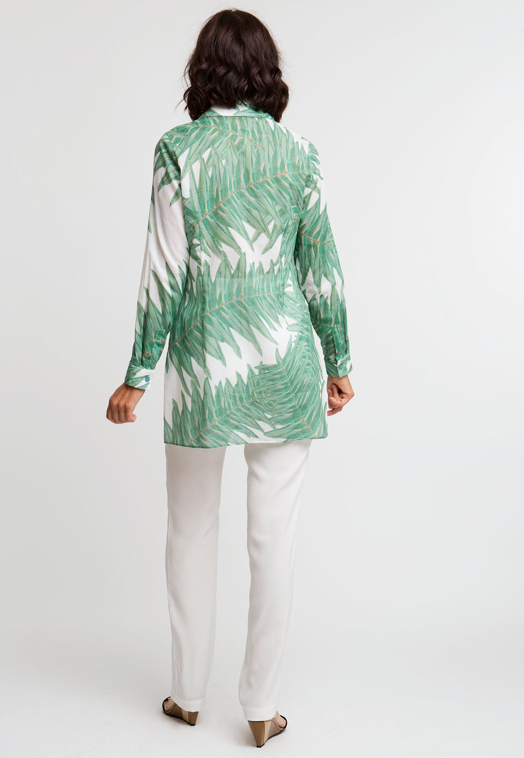 Ala Blouse in Queen Palm back view