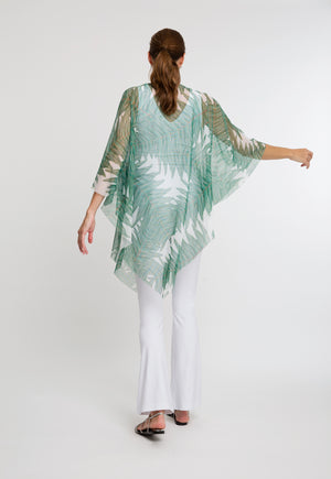 Artemisia Poncho in Queen Palm back view