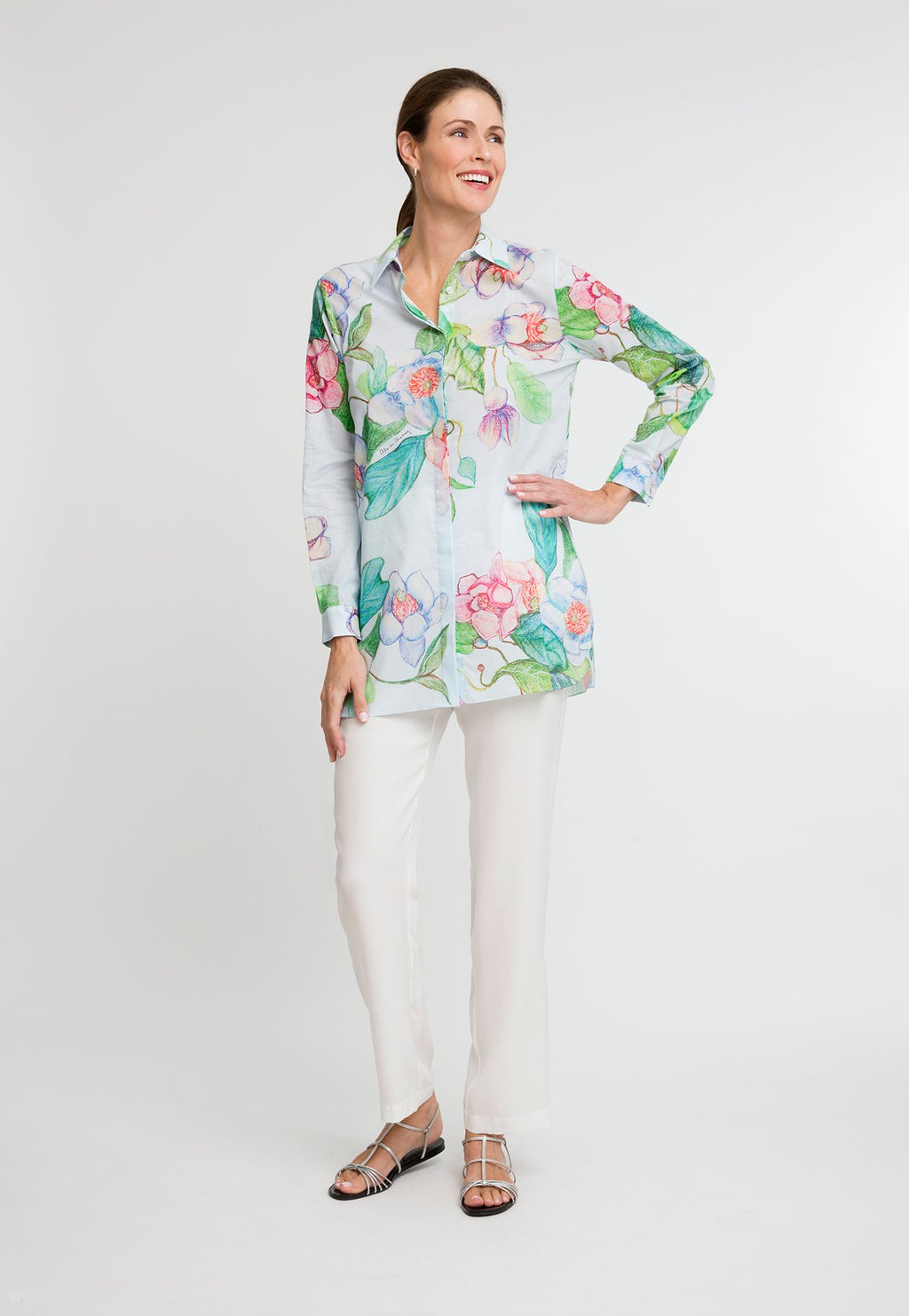 Ala Blouse in Grandiflora front view