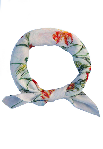 Water mill printed neck scarf