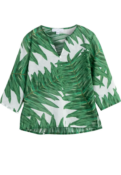 cotton palm tree printed tunic for girls