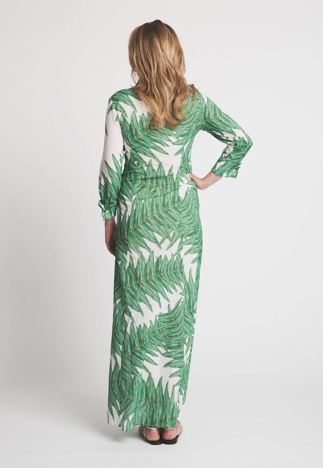 Kathe Dress in Queen Palm  back view
