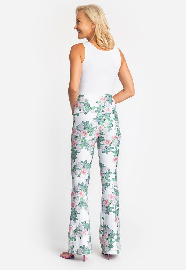 Elaine Pant in Gardenia back view