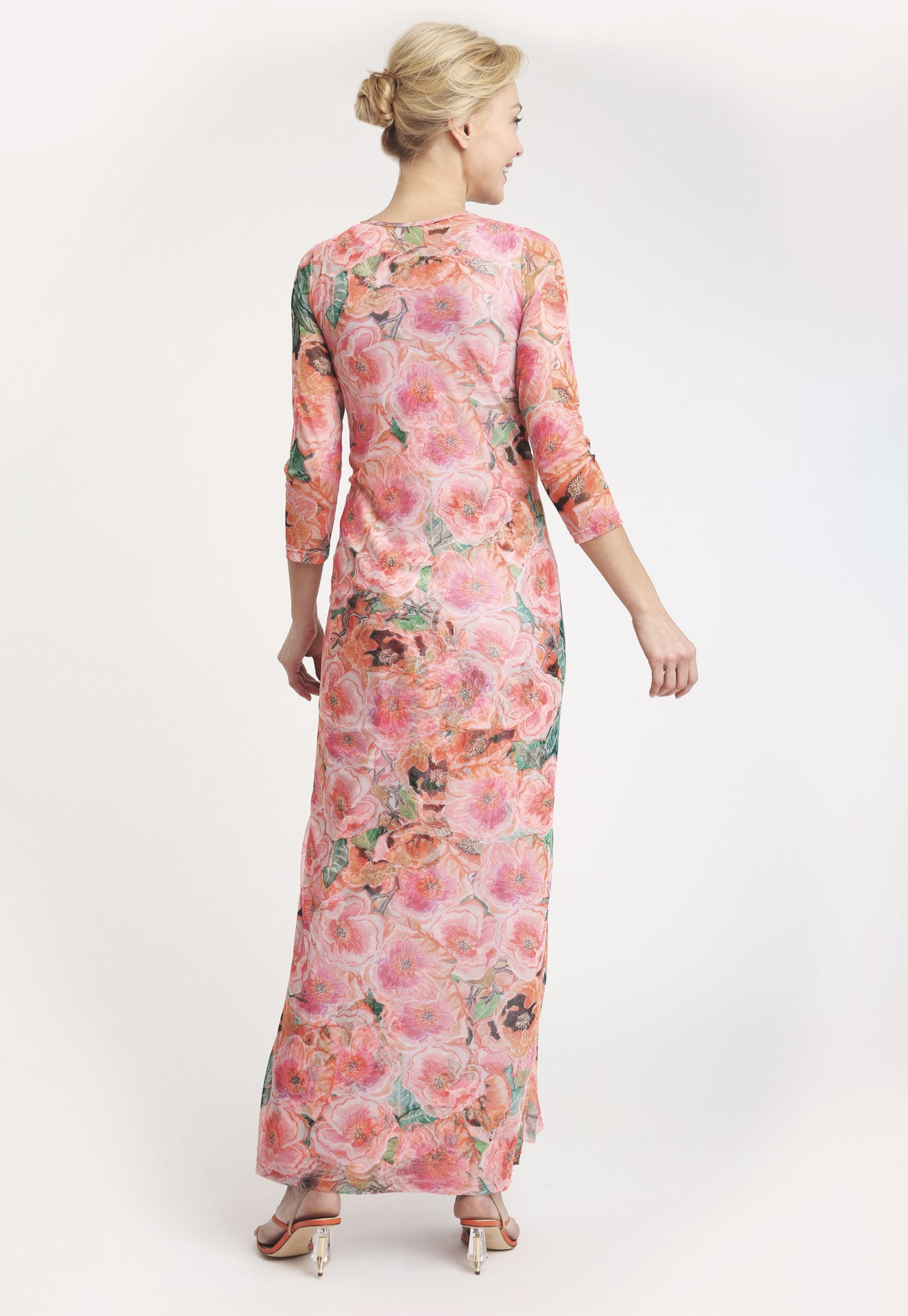 Loren Wrap Dress in Taj back view